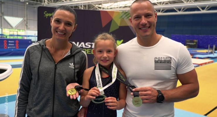 7 -letnia Pola Drabik zdobywczynią 3 złotych medali w gimnastyce