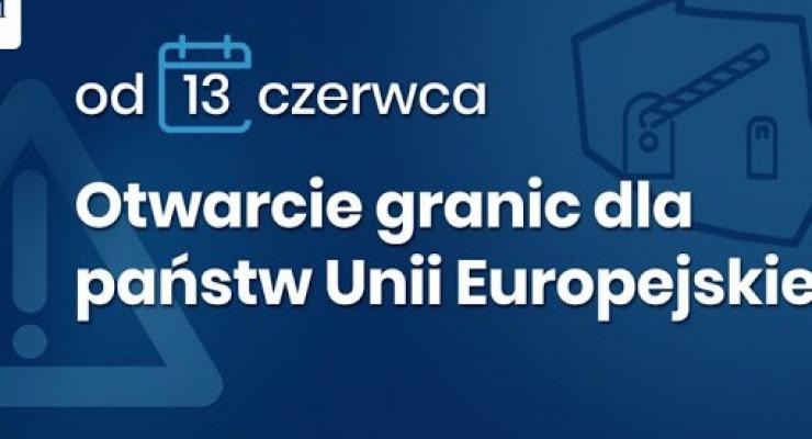 Polska otwiera granice od 13 czerwca